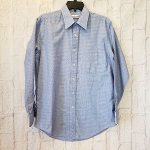 PIERRE CARDIN Blue Button-down Shirt